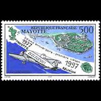 MAYOTTE 1997 - Scott# C2 Flight-Plane Set of 1 NH