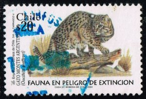 Chile #1395 Geoffroy's Cat; Used (2Stars)