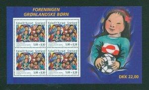 Greenland. Souvenir Sheet 2004  MNH.  Association Greenland's Children.