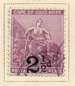 Cape of Good Hope 1891 Early Issue Fine Used 2.5d. Surcharged 326716