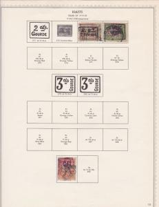haiti stamps page ref 17145