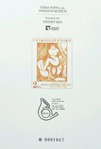 Czechoslovakia VYSTAVY 2013 (souvenir card) MNH  *serial no: 0001067