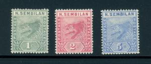 Malaya Negri Sembilan 2 to 4 mh complete set