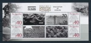 [81145] Gambia 2008 WWII Evacuation of Dunkirk Operation Dynamo Sheet MNH