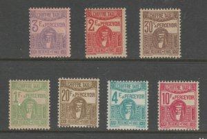Tunisia Cinderella Revenue fiscal Stamp 5-17 - mint hinged gum  postage dues?