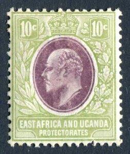 East Africa & Uganda/KUT 1907 KEVII. 10c lilac & pale olive. Mint. LH. SG37.