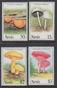 Nevis MNH 552-5 Mushrooms Fungi 1987