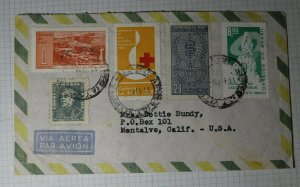 Brazil Airmail Cover USA 1962 Used Sc# C106 921 901 937