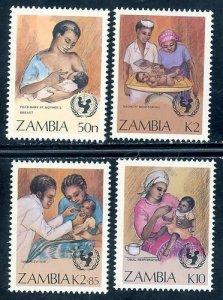 Zambia MNH 440-3 UN Campaign Health 1988 SCV 4.05