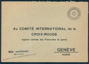 Switzerland WWII Internment Camp Sirnach Soldier Feldpost Cover 54127