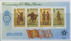 Isle Of Man 1976 SG79 American Independence MS MNH