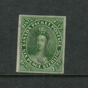 Canada #9 Very Fine Used With Light Cancel *With Certificate*