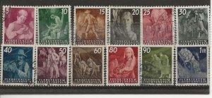 Liechtenstein 247-258 Set. Used