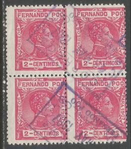 FERNANDO POO 153 BLOCK OF 4 SAN CARLOS CDS 96F-2