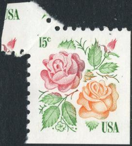 #1737 VAR. MINT ROSES WITH  FOLDOVER ERROR BN9946