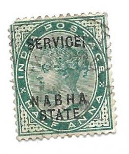 India Nabha State 1885 - U - Scott #O6A