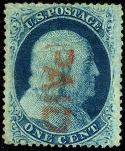 U.S. #24 Used Type V Red Paid Cancel