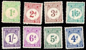 GILBERT AND ELLICE ISL. J1-8  Mint (ID # 100149)