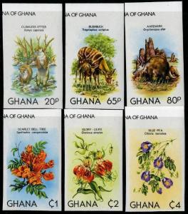HERRICKSTAMP GHANA Sc.# 782-87 Flowers Imperf