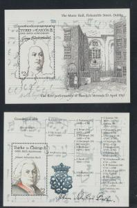 TURKS CAICOS  SCOTT # 688-9 HANDEL & BACH   VF NH SCOTT $NOW $12.50 @  $3.25