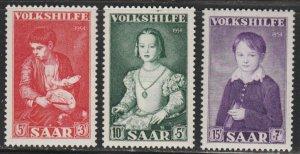 Saar #B101-B103 MNH Full Set of 3