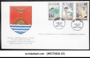 GILBERT ISLANDS - 1977 QEII SILVER JUBILEE - 3V - FDC