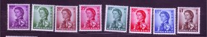 J23671 JLstamps 1962 hong kong part set mh #204-7,209-12 queen