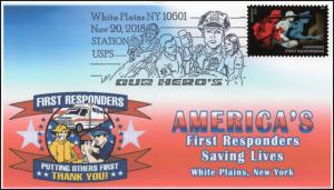 18-327, 2018, First Responders, Pictorial Postmark, Event Cover, White Plains NY