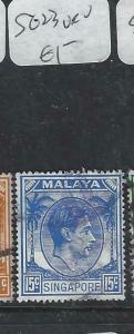 SINGAPORE  (P1404BB)  KGVI  15C  SG 23   VFU