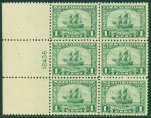 EDW1949SELL : USA 1920 Scott #548 P/B of 6 VF MNH Small perf separation Cat $100