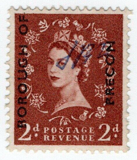 (I.B) Elizabeth II Commercial Overprint : Borough of Brecon