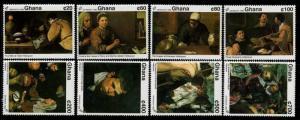 HERRICKSTAMP GHANA Sc.# 1433-40 Spanish Art