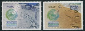HERRICKSTAMP NEW ISSUES SPAIN Sc.# 4175-76 Sustainable Tourism Snow & Sand S/A