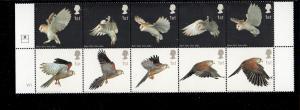 Great Britain Sc 2096a 2003 Hawk Owl stamp block mint NH