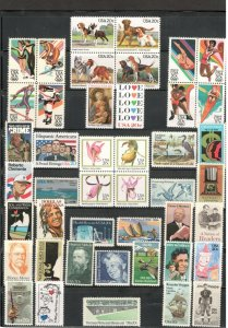 1984 Commemorative Year Mint Set 44 Stamps FREE SHIPPING