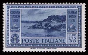 1932 ITALY #287 DEATH OF GIUSEPPE GARIBALDI - OGHR - VF - CV$40.00 (ESP#1372)