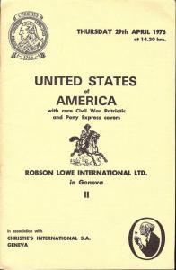 Robson Lowe: Sale # 4051  -  United States of America, Ro...