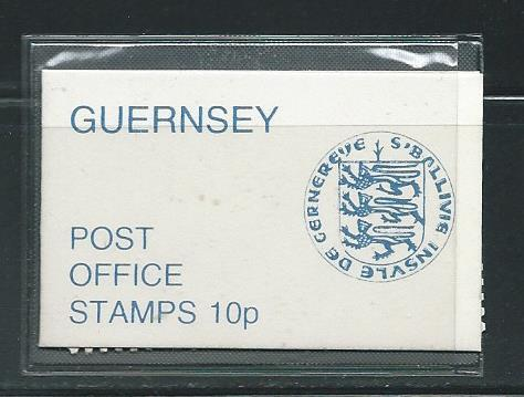 Guernsey 102A 1974-8 Uniforms booklet (pane of 4) MNH