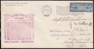 FAM 17-2 BALTIMORE TO BERMUDA AUTOGRAPHED BY CAPT. SULLIVAN & 6 CREW 1938 HV6983
