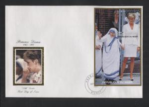 Niger-Scott 946-FDC- Princess Diana Memorial-Silk Cachet -30th Sept.1997- 2000fr