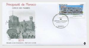 H01 Monaco 2019  Re-Opening of the Hotel de Paris  FDC
