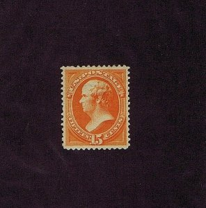 SC# 189 UNUSED, ORIGINAL GUM, PREVIOUSLY HINGED, 15C WEBSTER, 1879, 1990 PF CERT