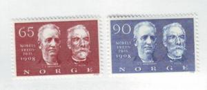 Norway Sc 521-2 1968 Nobel Prize Winners stamps mint NH