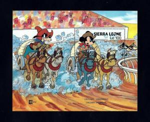 SIERRA LEONE - 1987 - DISNEY - MICKEY - GOOFY - STAMPEDE - MINT - MNH S/SHEET!