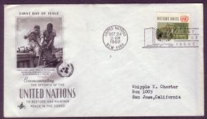 United Nations FDC Sc. #  110 Peace in the Congo   L13