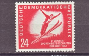 J22287 Jlstamp 1951 germany ddr part of set mnh #77 sking sports