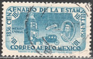 MEXICO C230, 10c Centenary of 1st postage stamps Used VF. (1090)