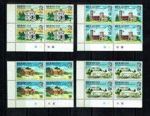 Bermuda: 1970, 350th Anniv. of Bermuda Parliament  in plate blocks of 4,  Mint