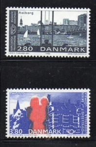 Denmark Sc 819-20 1986 Nordic Cooperation stamp set mint NH