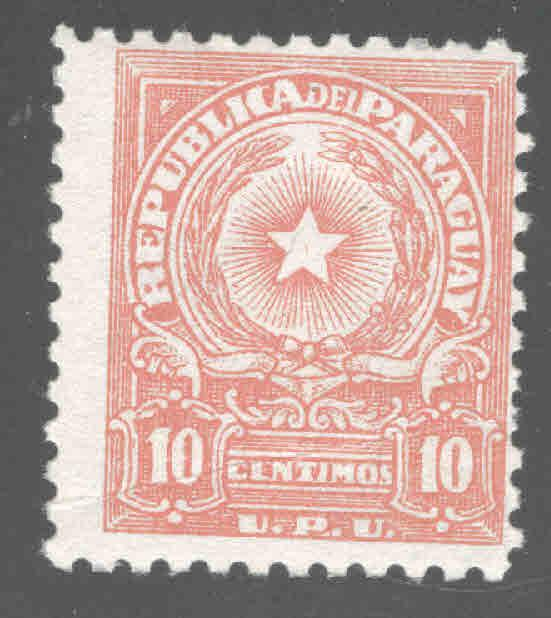 Paraguay Scott 478A MH* creased stamp